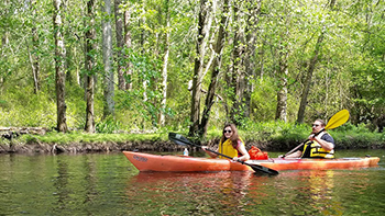 Kayaking on the Tuckahoe River