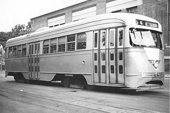 Capital Transit 1101 trolley car