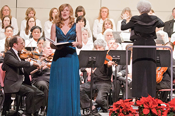 Soprano Amy Van Roekel is a frequent CPC soloist