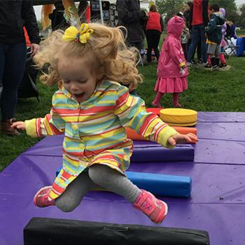 Children having fun in Baker Park