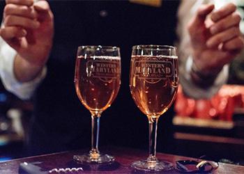 WMSR Glasses with Wine