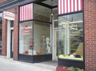 Storefront of McFarland's Candies