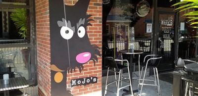 photo of restaurant's dog mural