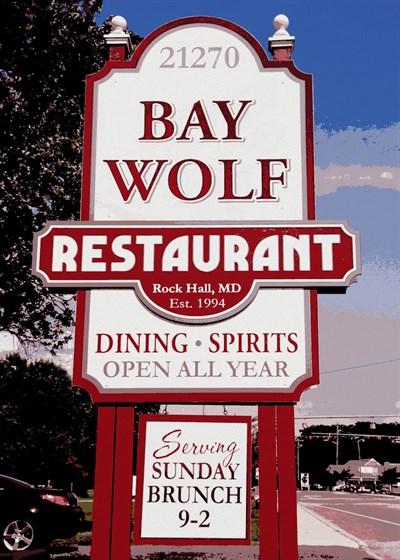 Bay Wolf Restaurant signage