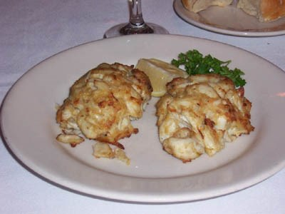 Crabcakes at the Peppermill