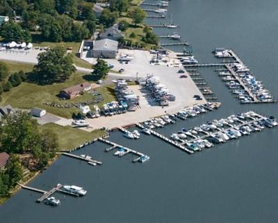 Rhode River Marina aerial view