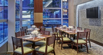 Dining area at the Diamond Tavern in the Hilton Baltimore-