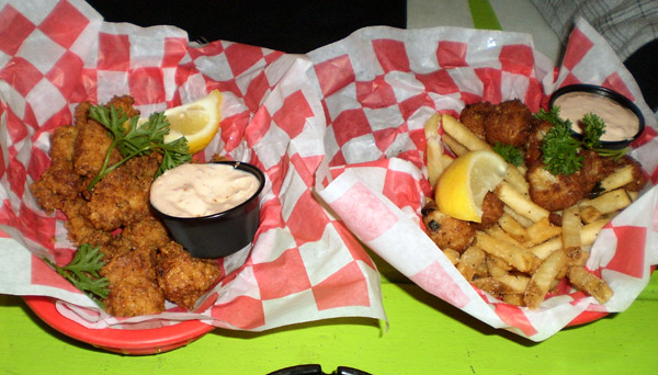 Two food platters from Dick's Last Resort -
