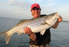 Angler with Great Chesapeake Bay Catch.