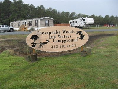 Newly updated Chesapeake Woods and Waters Campground.