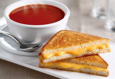 Classic grilled cheese and tomato soup from the Commerce Street Creamery.