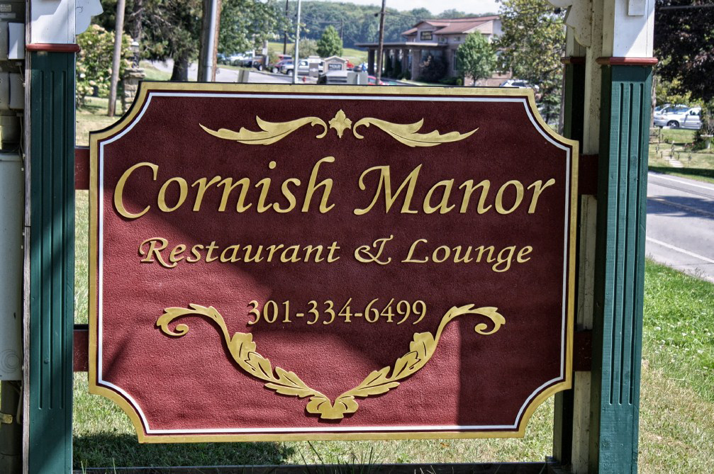 Classic Sign for the Cornish Manor Restaurant.