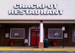 The Crackpot Restaurant front door.