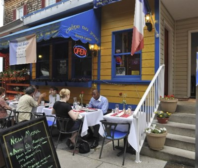 French cafe style dining at Crepe Du Jour.