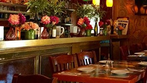 Cafe Gia's bright, intimate interior promises a special meal.