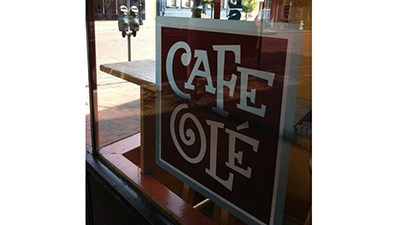 Cafe Ole looks out onto West St. in Annapolis.