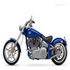 Image of a blue motorcycle