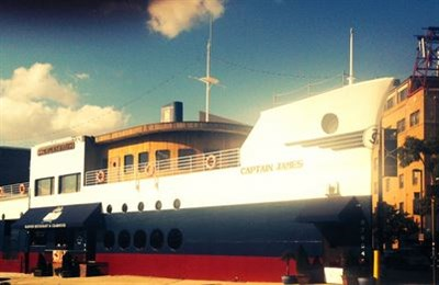 Boat-like exterior of Captain James