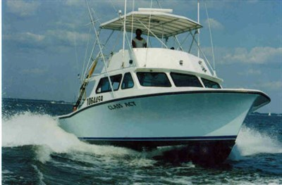 Class Act Sportfishing Charter Boat on the water.
