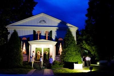 Historic Baldwin Hall night view.