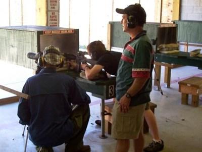 Shooters at the shooting range.