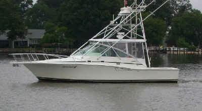 Welcome aboard the Special K, a 35' fiberglass sport fishing vessel.