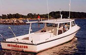 The Intimidator Fishing Charter on the water.