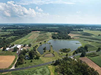 Larriland Farm aerial view