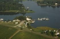 Drury's Marina Fishing Center aerial view