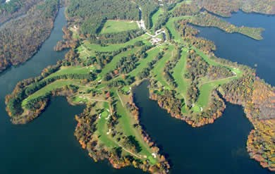 Pine Ridge Golf Course aerial view