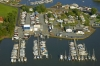 Aeriel view of Clarks Landing Chester Marine Center