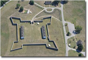 Aerial view of Fort Frederick State Park