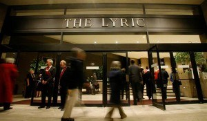 Front entrance of the Lyric