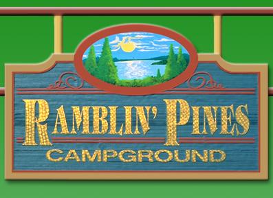 Ramblin' Pines Campground signage
