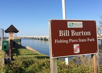 Bill Burton Fishing Pier State Park signage