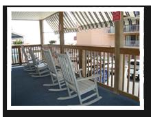 Porch view Beach Walk Hotel