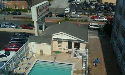 Aerial view of Casablanca Oceanside Inn