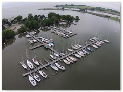Boats at Swan Creek Marina