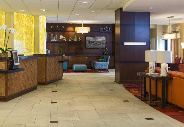 Towson University Marriott Conference Hotel lobby area