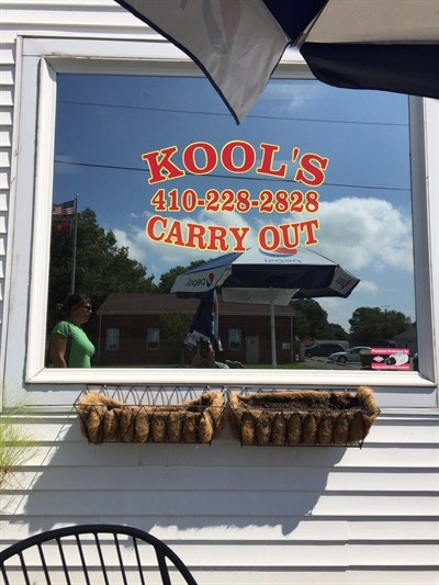 Kool Ice and Seafood signage