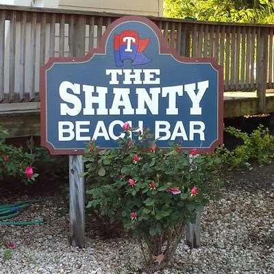 The Shanty Beach Bar outdoor signage