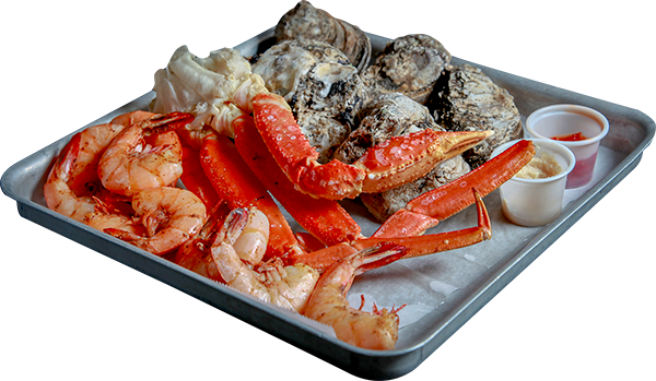 Steamed seafood sampler