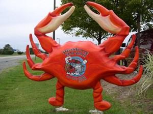 Stevensville Crab Shack exterior signage