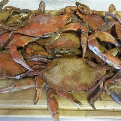Steamed crabs at Gay's Seafood