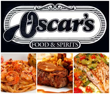 Oscar's logo and food photo