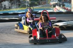 Go-kart racing at Smiley's Fun Zone