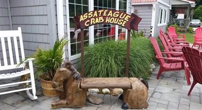Assateague Crab House signage