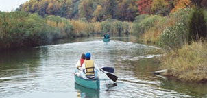 Guided canoe trip at American Chestnut Land Trust