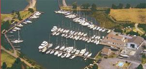 Marina aerial view