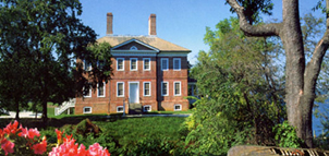 Brick house and gardens